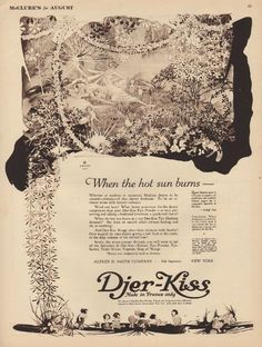Djer-Kiss *~❤•❦•:*´`*:•❦•❤~* Willy Pogany Fairy Glen, Black And White Illustration, Graphic Design Art, Vintage Beauty, Vintage World Maps, Folk, Kiss, Fairies, Imagination