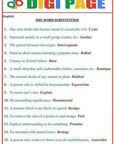 #DP | ONE WORD SUBSTITUTION | 06 - JULY - 17   |http://www.mahendraguru.com/2017/07/dp-one-word-substitution-06-july-17.html  SUBSCRIBE US:- www.youtube.com/c/MahendraGuruvideos Join us:- FACEBOOK - www.facebook.com/Emahendras/ INSTAGRAM- www.instagram.com/mahendra.guru/ TWITTER- twitter.com/Mahendras_mepl PINTEREST -in.pinterest.com/gurumahendra/ VISIT OUR WEBSITE- www.mahendraguru.com/ Google + :plus.google.com/+MahendraGuruvideos