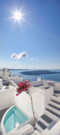 Santorini, Greece / Cliff Side Hotel, Suites in Firostefani