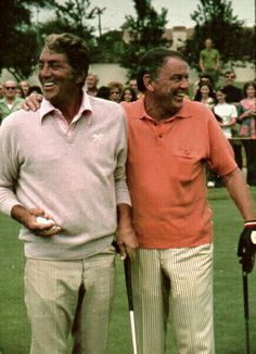 October 1st, 1972: Frank Sinatra and Dean Martin at a Celebrity Golf Tournament in Los Angeles