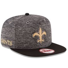 9b82cccc8df Men s New Orleans Saints New Era Heathered Gray Black 2016 NFL Draft  Original Fit 9FIFTY