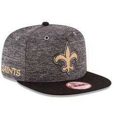 Men's New Orleans Saints New Era Heathered Gray/Black 2016 NFL Draft Original Fit 9FIFTY Snapback Adjustable Hat