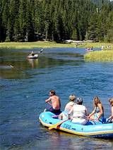 Truckee river rafting - easy float. Most people who raft California's Truckee River take the scenic float from Tahoe City to River Ranch.