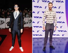 24 Music Stars On Their First Red Carpets Compared With Now