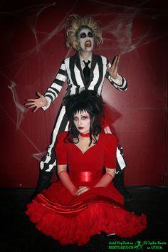 Beetlejuice & Lydia - Halloween Costume Contest via @costumeworks