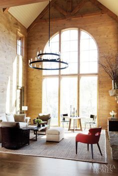 Love large bay windows like this, and once again, the exposed brick. Natural light so I don't have to flip a switch on...I'll do it. Plus it'll be cool to watch when it rains.