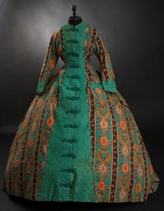 Wool paisley wrapper ca. 1860s