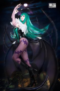 Character: Morrigan Aensland / From: Capcom's 'Darkstalkers' Video Game Series / Cosplayer: Aoandou