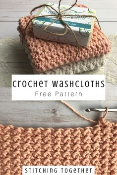 Crochet Washcloth You'll love whipping up these easy crochet washcloths for your home! With amazing texture and fun stitches, they'll not only look good but be soft and gentle to use. Click through to get the free pattern. Crochet Kitchen, Crochet Home, Crochet Gifts, Cute Crochet, Crochet Baby, Simple Crochet, Crochet Dolls, Crochet Angels, Knitted Dolls