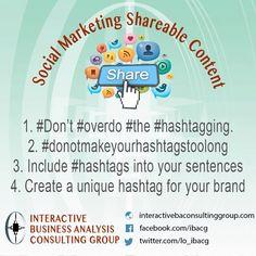 Tip of the Week: Hashtag Etiquette. #marketing #socialmedia  #hashtag Don't overdue the Hashtag