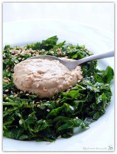 Salade de persil et purée de sésame - Much more than sushi - Vegan recipe - Recette végétalienne