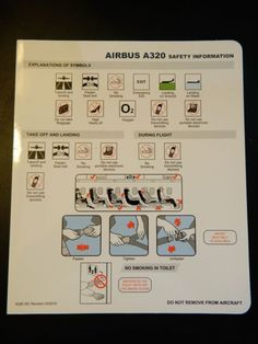 JETSTAR ASIA SAFETY CARD - AIRBUS 320
