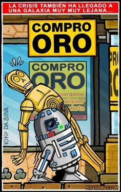 La crisis también ha llegado a una galaxia muy muy lejana…