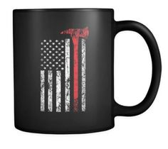 Firefighter Coffee Mug | Thin Red Line | Support Our Firefighters