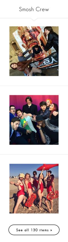 """""""Smosh Crew"""" by color-the-sky ❤ liked on Polyvore"""
