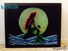 Framed perler bead The Little Mermaid (18' x 14') by RockerDragonfly on deviantART