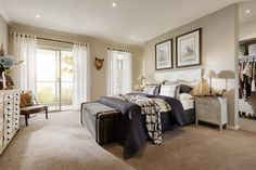 Carlisle Homes: Illawarra 39 - Featured at The Address Estate Point Cook Carlisle Homes, Neutral Bedrooms, Neutral Colors, The Hamptons, House Plans, Design Inspiration, House Design, How To Plan, Building