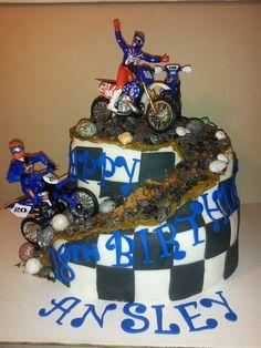 Dirt Bike Cake cakes Pinterest Dirt bike cakes Bike cakes and