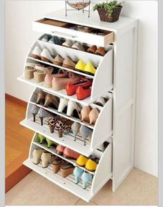 Ikea shoe drawers! There are 27 pairs of shoes here :)