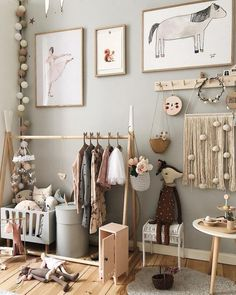 Check out this kids bedroom area design idea for my next remodel! I love the statement sage green walls & timber wood floor complemented by the bright natural light, pretty cushion accents and the cutest kids decor that gives a nice pop of color! Baby Bedroom, Baby Room Decor, Girls Bedroom, Cool Kids Rooms, Small Kids Rooms, Kids Room Paint, Toddler Rooms, Deco Kids, Childrens Beds