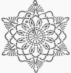 trendy Ideas for crochet granny square star beautiful Crochet Snowflake Pattern, Crochet Stars, Crochet Motifs, Crochet Snowflakes, Crochet Angels, Crochet Diagram, Doily Patterns, Thread Crochet, Crochet Granny