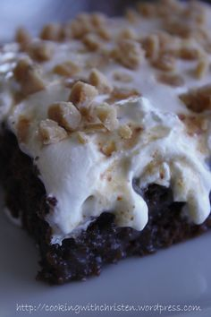 Caramel Heath Bar Cake