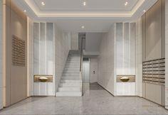 Elevator Lobby Design, Mail Room, Sales Office, Model Homes, Modern Luxury, Pavilion, Luxury Homes, Condo, House Design