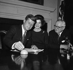 JFK - signing papers to enter the Maryland primary, Feb 2 1960. courtesy of Anne Arundle Maryland state government.