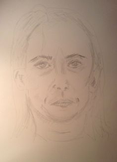 Mia's self-portrait before instruction.