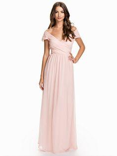 Cup Sleeve Maxi Dress - Nly Eve - Ljus Rosa - Festklänningar - Kläder - Kvinna - Nelly.com