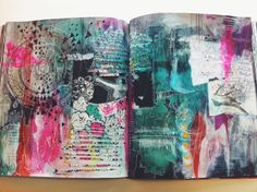 Love the colors and the look of this spread by Roxanne Siciliano