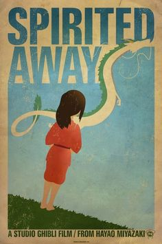 Really awesome vintage style posters for some of Hayao Miyazaki's films