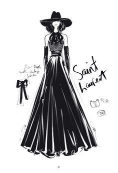 """The Dress"" - 100 najpiękniejszych sukienek na ilustracjach Megan Hess Illustration Megan Hess, Dress Illustration, Ysl, Kerrie Hess, Model Sketch, Mode Chanel, 20th Century Fashion, Fashion Wall Art, Dress Silhouette"