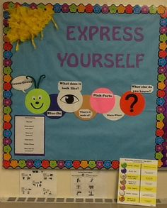 My Expanding Expression Tool bulletin board. I was completely inspired by Sara Smith's program. If you have a chance to attend one of her continuing education courses, go!