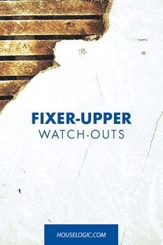 Dont Buy That Fixer-Upper (Unless You Know These 4 Things) - How To Buy A Home? Ideas of How To Buy A Home. - Here's how to know if buying a fixer upper will be worth the time hassle and costs. Find out how to buy a fixer upper at HouseLogic. Home Remodeling Diy, Home Renovation, Remodeling Costs, Easy Projects, Home Projects, Home Buying Process, Up House, Tiny House, Home Repairs