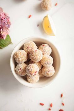 Raw Lemon Goji Truffles