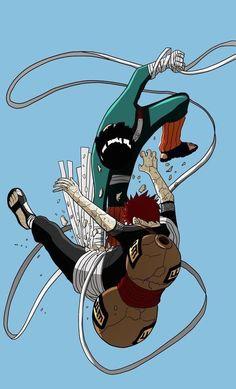 Lee X Gaara Minimalista - Naruto Naruto Shippuden Sasuke, Naruto Kakashi, Anime Naruto, Wallpaper Naruto Shippuden, Naruto Wallpaper, Naruto Art, Manga Anime, Wallpapers Naruto, Animes Wallpapers