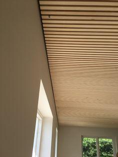 Blinds, Loft, Ceiling, Curtains, Doors, Wood Ideas, House Ideas, Home Decor, Panelling