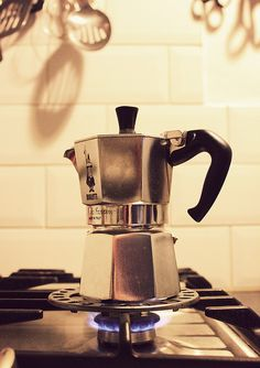 Stovetop espresso - total lifesaver when electricity goes out, and I can take it on the road too.