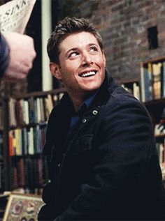 Dean Winchester (GIF) aww, he looks so happy and full of hope