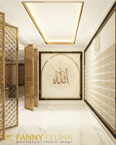 Modern House Facades, House Design, Room Design, Apartment Interior, Prayer Room, Architectural House Plans, Country Kitchen Designs, Aesthetic Rooms, Muslim Prayer Room Ideas