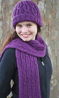 Cables are classic on hats and scarves. They add texture and interest, and are incredibly easy to knit on the knitting board. By simply having stitches switch places you can create intricate designs. Even if you've never done cables before, you'll find this pattern fun and rewarding.