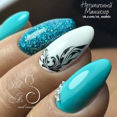 nails, You can collect images you discovered organize them, add your own ideas to your collections and share with other people. Cute Nail Art, Nail Art Diy, Diy Nails, Blue Nails, Matte Nails, Gorgeous Nails, Pretty Nails, Acrylic Nail Designs, Nail Art Designs