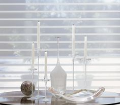 Light up the holidays with the luminous light control and beauty of Silhouette® window shadings. ♦ Hunter Douglas window treatments #White