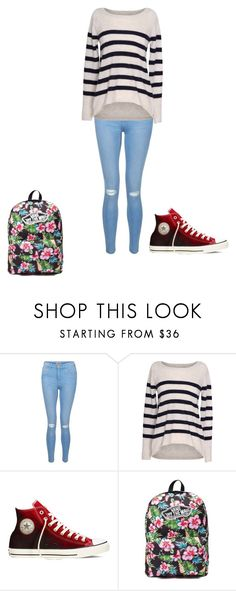 """""""Untitled #141"""" by samhilborne on Polyvore featuring New Look, Velvet by Graham & Spencer, Converse and Vans"""