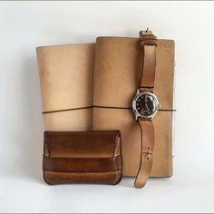 Same leather, different age and use. All made from same Tärnsjö Garveri veg tanned leather, and by Vormu (www.vormu.com)