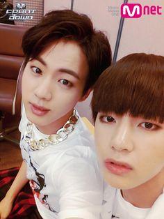 Jin and V - BTS