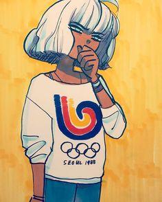 "Art by: Bryan Lee O'Malley (@radiomaru) en Instagram: ""Thinking about 1988"" ♦ radiomaru.tumblr.com ♦ twitter.com/radiomaru ♦ www.instagram.com/radiomaru♦ www.flickr.com/photos/radiomaru ♦ RADIOMARU.COM • Cartoonist, dreamer, sloth. Creator of SCOTT PILGRIM, etc."