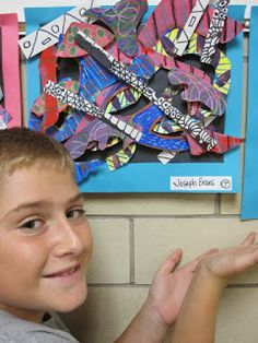 Lake and Hartville Elementary Art: 5th Grade ABSTRACT STELLA SCULPTURES Art Lessons For Kids, Art Lessons Elementary, Art For Kids, Kid Art, Sculpture Lessons, Sculpture Projects, Sculpture Ideas, 3d Art Projects, School Art Projects