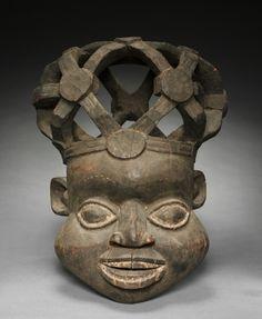 Helmet Mask, c. 1900. Equatorial Africa, Cameroon, Bamum, early 20th century.